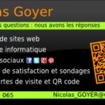 Carte de visite Nicolas GOYER