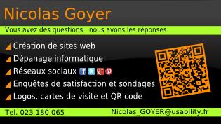 Carte De Visite Perlicrea Nicolas GOYER