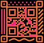 QR code avec décoré à l'exterieur