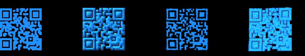4 exemples de QR codes personnalisés