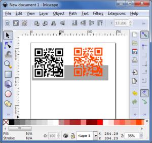 Inkscape : QR code vectorisé