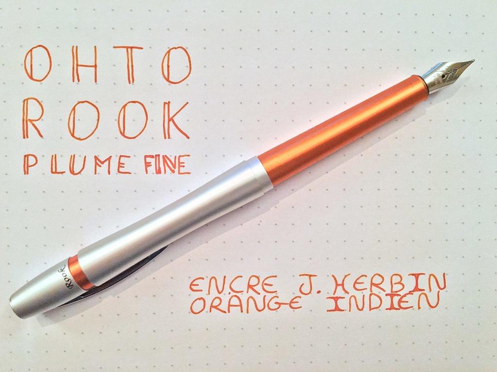 IMG 3304 1024x768 - Ohto Rook & J. Herbin Orange Inden