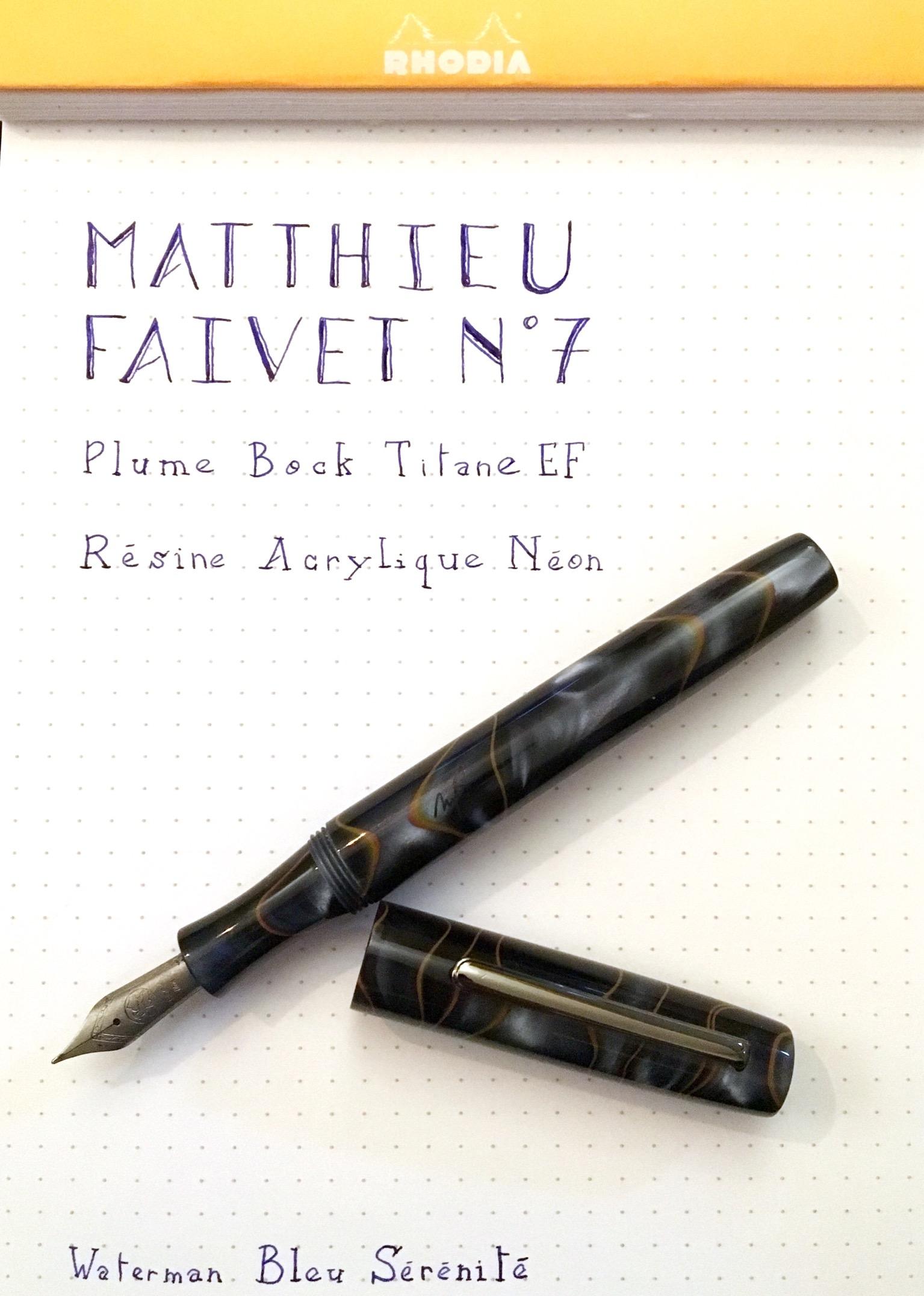 Matthieu Faivet: le test