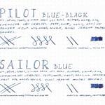 Pilot Blue-Black vs. Sailor Blue – Dotpad